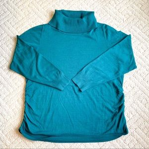 LANE BRYANT BLUE TURTLENECK SWEATER